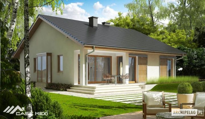 Proiecte de case mici cu structura metalica elegante