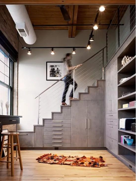 utilizarea spatiului de sub scari under stairs storage ideas 12