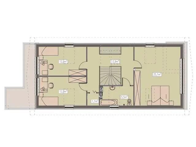 Proiecte de case pe teren cu deschidere mica narrow lot house plans 4