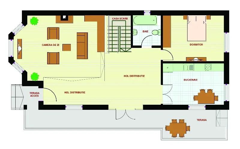 Proiecte Case Teren Deschidere Mica Narrow Lot House Plans Duplex Proiect Superb
