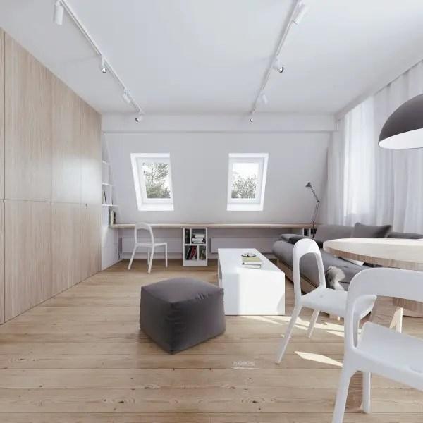 amenajarea unui apartament la mansarda Setting up an attic apartment 3