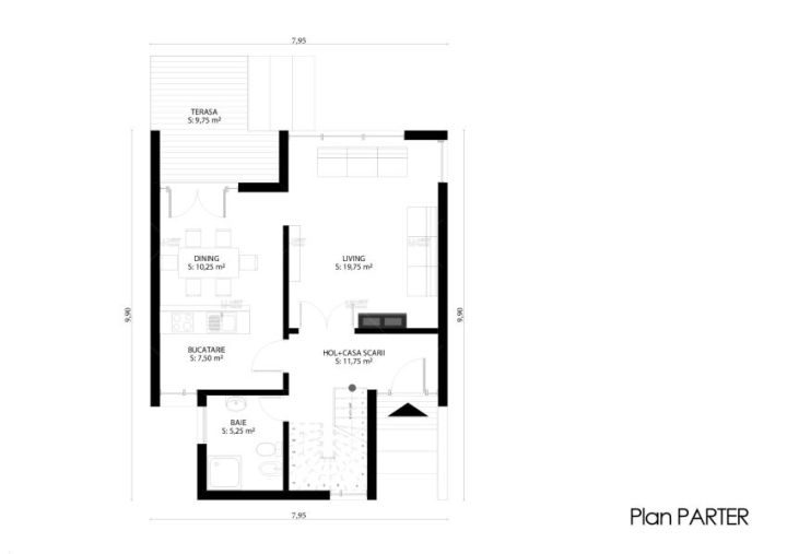 case ieftine pentru familii cu 2-3 membri Affordable homes for families of 2-3 4