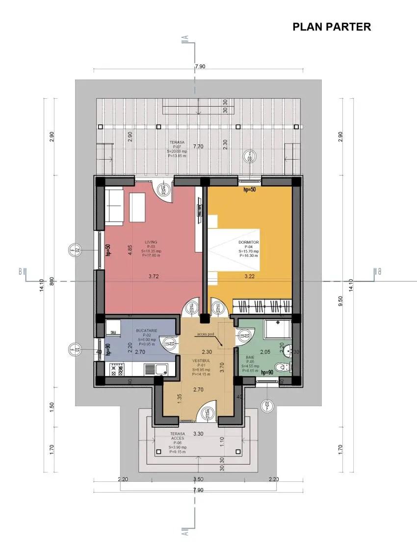 case mici cu un dormitor o arhitectura simpla insufletita de o
