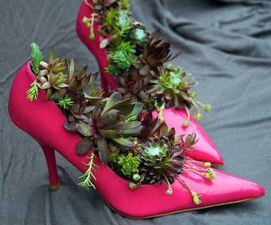 decoratiuni din pantofi shoe planters 7