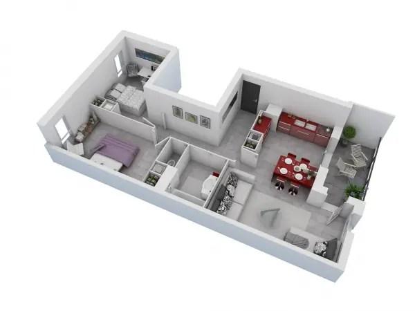 idei pentru amenajarea unui apartament cu 3 camere 3 room apartment layout ideas 4