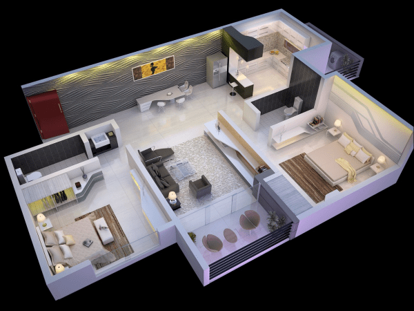 idei pentru amenajarea unui apartament cu 3 camere 3 room apartment layout ideas