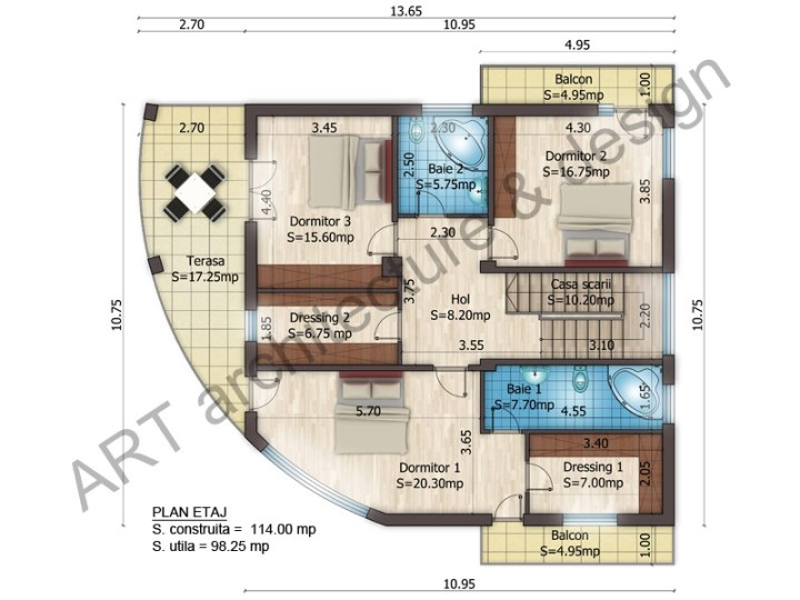 proiecte de case cu etaj si mansarda three story house plans 5