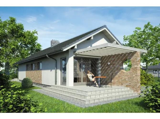 proiecte de case mici cu terasa acoperita Covered patio small house plans 9