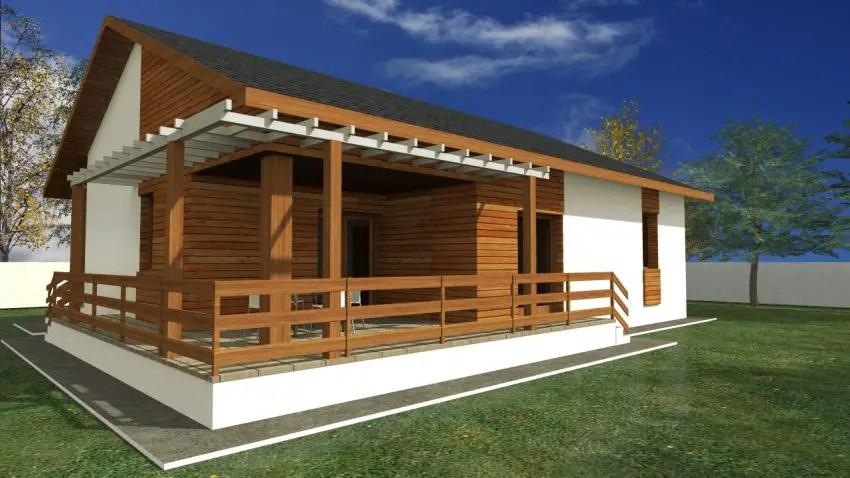 Proiecte de case mici cu terasa acoperita case practice for Proiecte case cu etaj si terasa