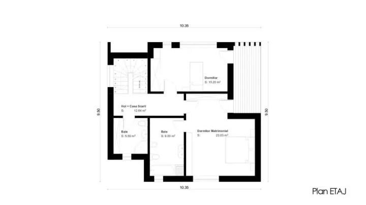 proiecte de case mici cu un etaj Two story small house plans 12