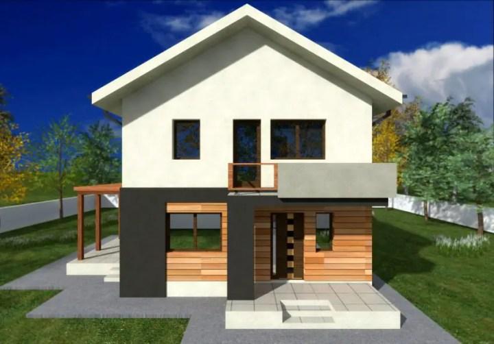 proiecte de case mici cu un etaj Two story small house plans 2