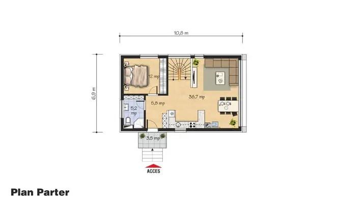 proiecte de case mici cu un etaj Two story small house plans 6