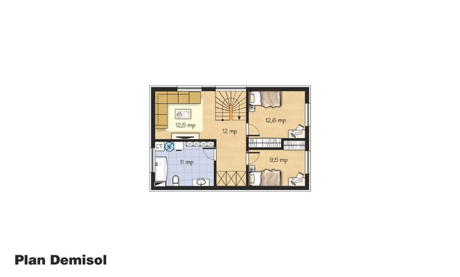 proiecte de case mici cu un etaj Two story small house plans 7