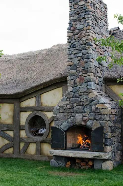 Cuptoare de gradina din piatra outdoor stone ovens 10