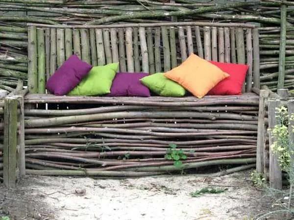 banci din lemn pentru gradina Garden wood benches ideas 15