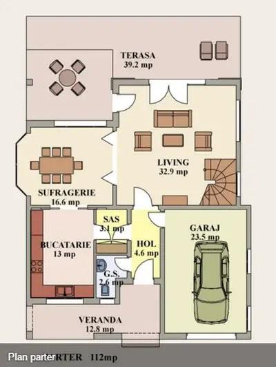 case cu etaj moderne Two story modern house plans 12