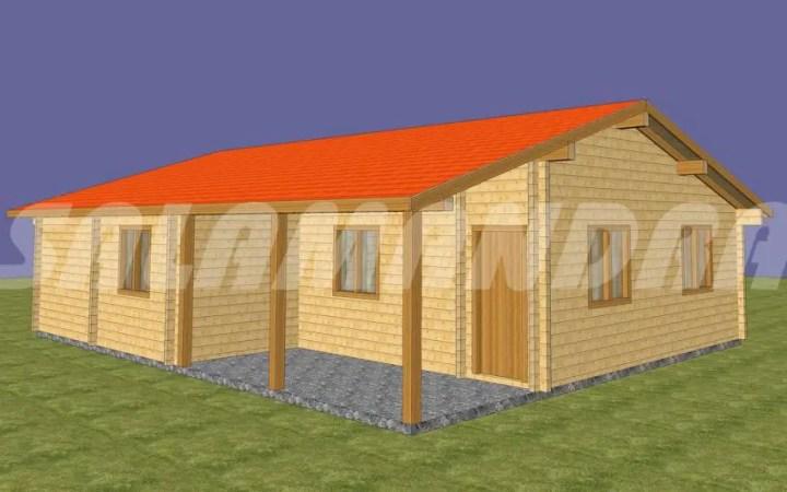 Case din barne de lemn masiv - arhitectura simpla, cu interioare generoase