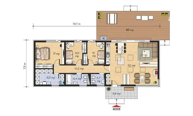 case mici moderne cu un singur nivel Small modern single level houses 11