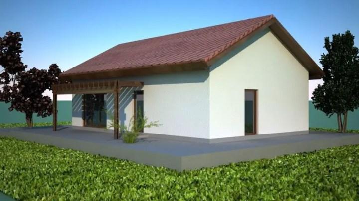 case mici moderne cu un singur nivel Small modern single level houses 8