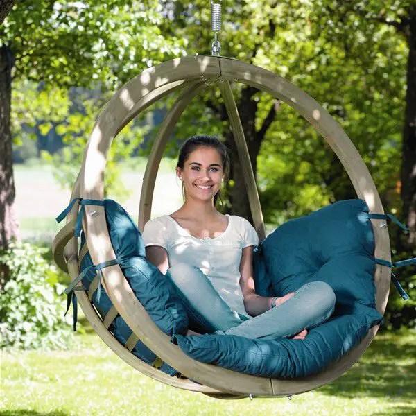 modele de balansoare de gradina Wooden garden swing ideas 9