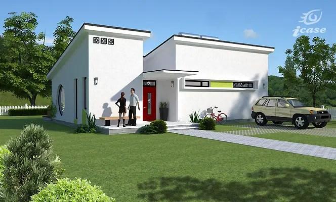 Modele de case moderne - mica, dar cu design ambitios