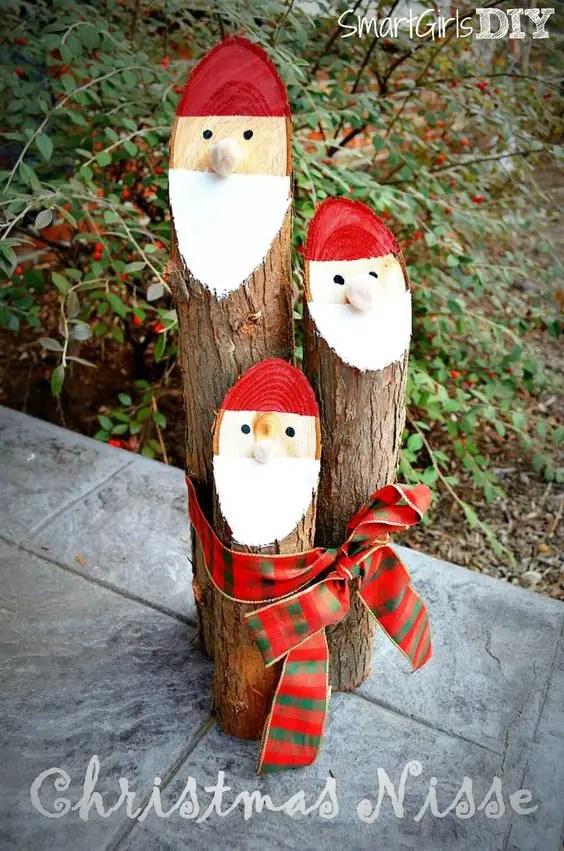 ornamente de gradina din lemn rotund Garden log decorations 3