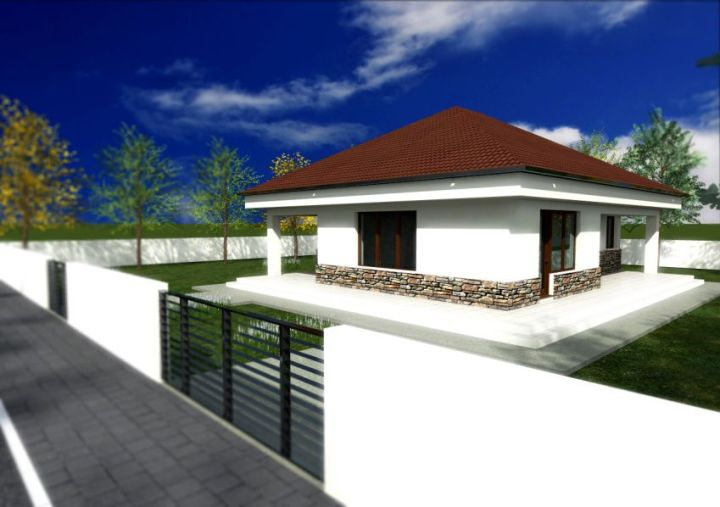 proiecte de case cu piatra de rau Houses with river stone veneer 3