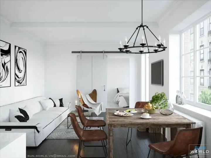 sufragerii in stil scandinav Scandinavian style dining rooms 5