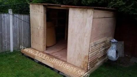 case construite din paleti Wood pallet houses 5