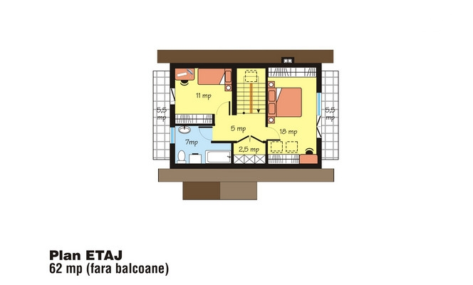 case cu mansarda si balcon Houses with attic and balconies 13