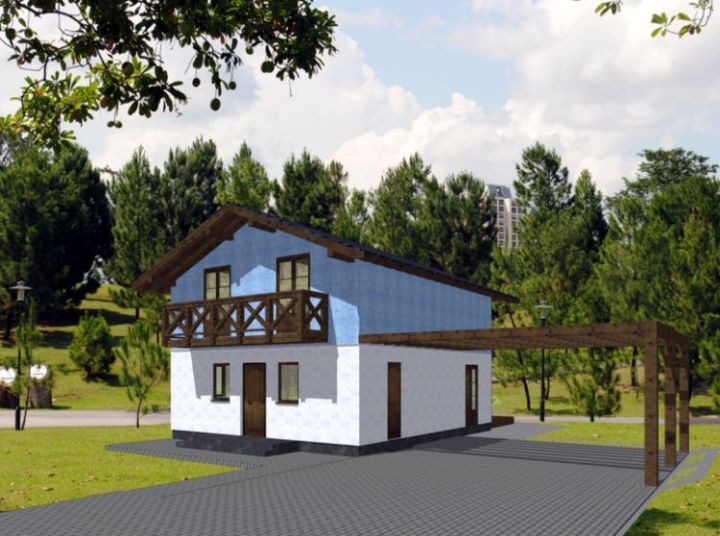 Case din panouri din lemn - finiaje frumoase din lemn