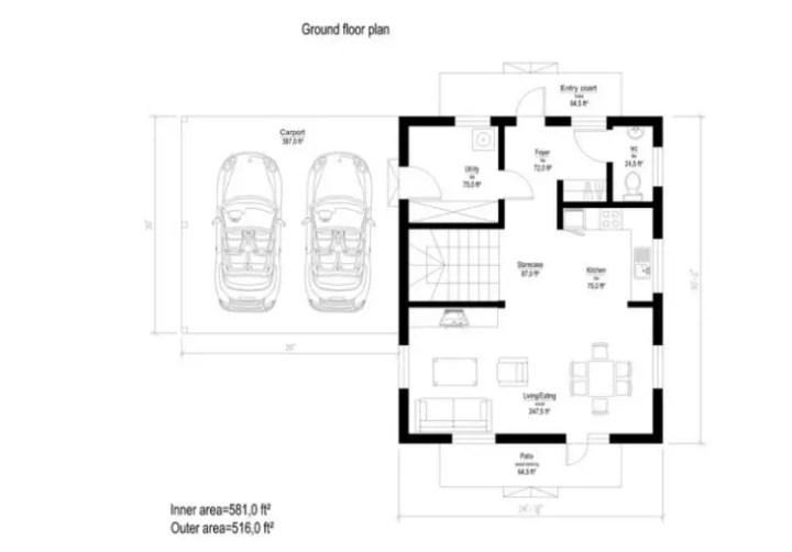 case din panouri din lemn wood panel house plans 14