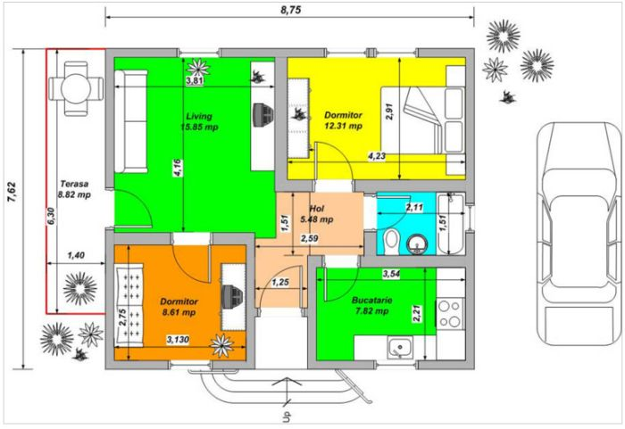 case din panouri din lemn wood panel house plans 5