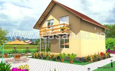Case din panouri termoizolante - deschisa spre exterior prin spatii vitrate generoase