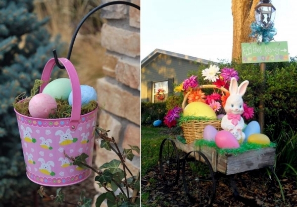 decoratiuni de paste in gradina Outdoor Easter decorations 8