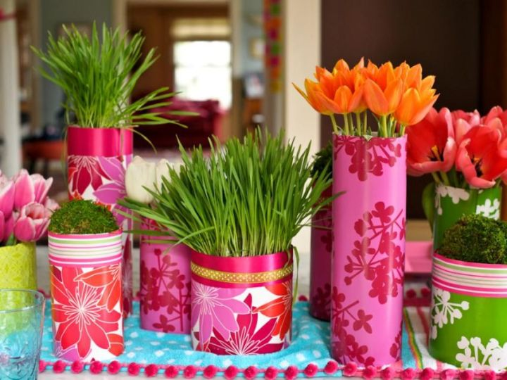 decoratiuni pentru masa de Paste Table Easter decorations 10
