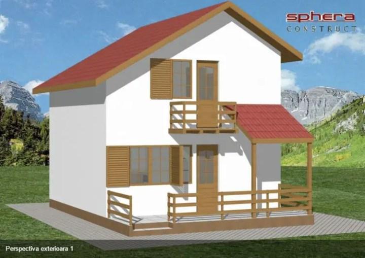 Proiecte de case de 70 de metri patrati - finisaje din lemn