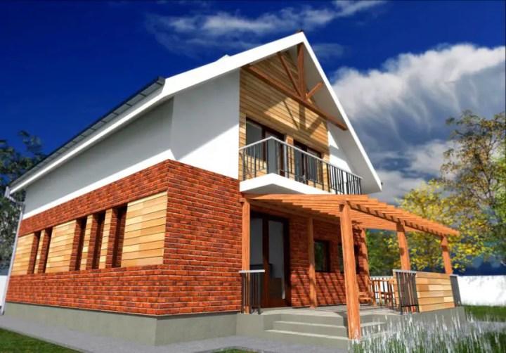 Case cu fatada de caramida brick facade houses 4