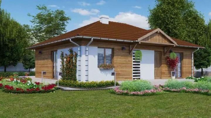 Case cu parter si doua dormitoare Two bedroom house plans 3