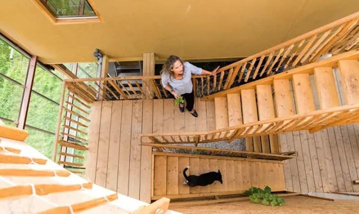 Casa-sera din Rotterdam - o incursiune in natura din interior