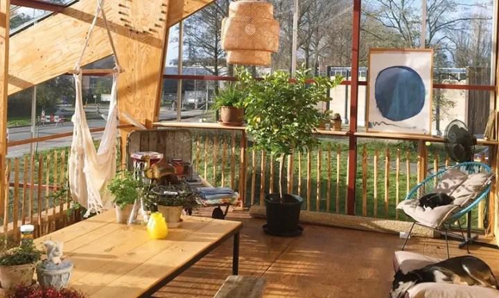 Casa-sera din Rotterdam - spatii deschise catre soare