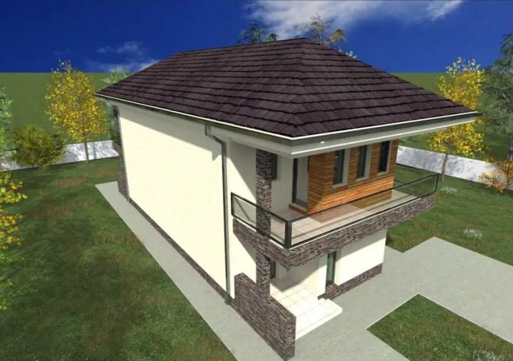 case cu fatada din piatra Houses with stone veneer facades 3