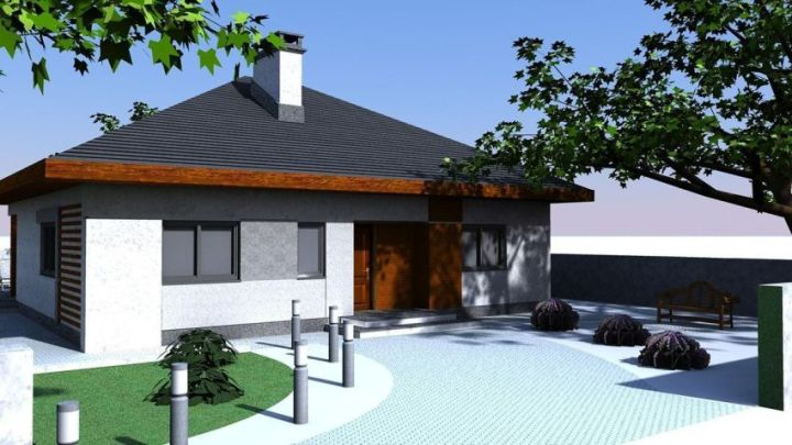 Case cu parter si 3 dormitoare - spatii interioare bine delimitate