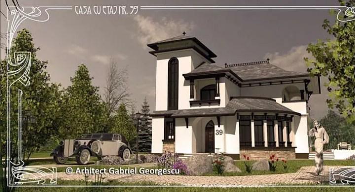 Case cu staif - stilul neoromanesc si influente mediteraneene