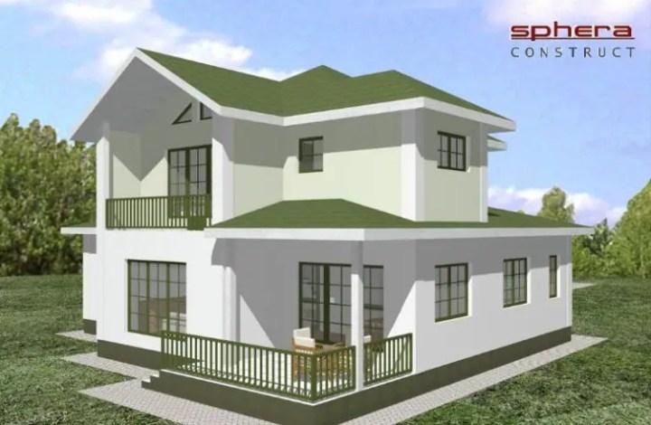 case mici cu garaj si mansarda Small houses with attic and garage 11