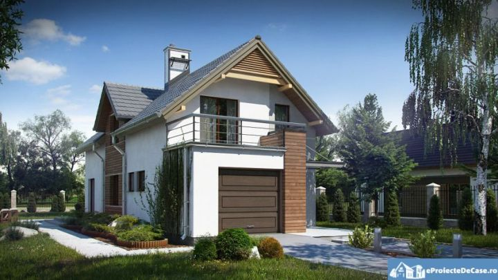 case mici cu garaj si mansarda Small houses with attic and garage 2