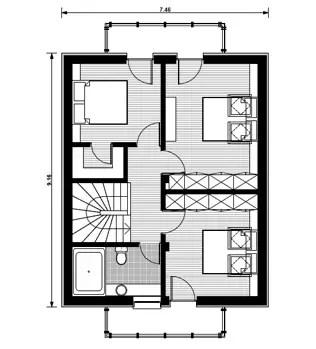 proiecte de case cu etaj mansardat attic house plans 3