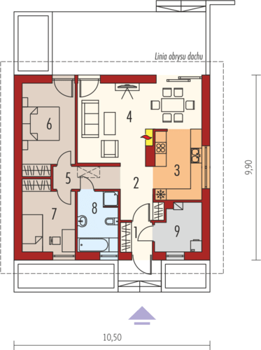 proiecte de case fara etaj cu 2 dormitoare Two bedroom single story house plans 11
