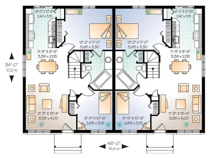 Idei de case duplex FOTO: thehouseplanshop.com