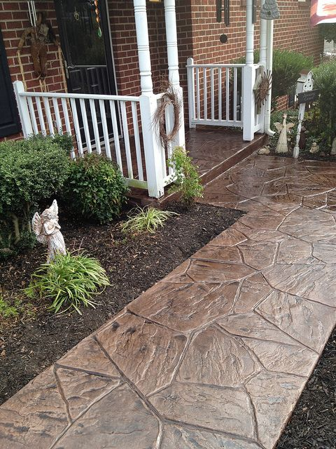 alei din beton amprentat stamped concrete walkway ideas 11